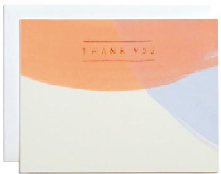 Painted Thank You Greeting Card