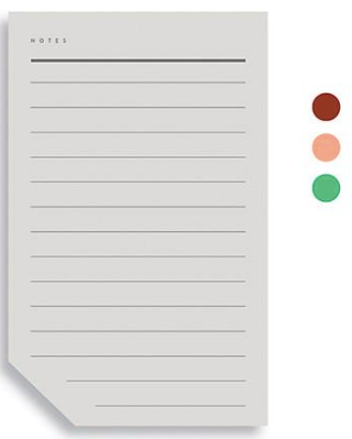 Colorblock Notepad B Large