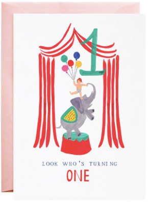 One Ellie Elephant Greeting Card