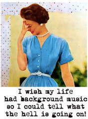 Background Music Greeting Card