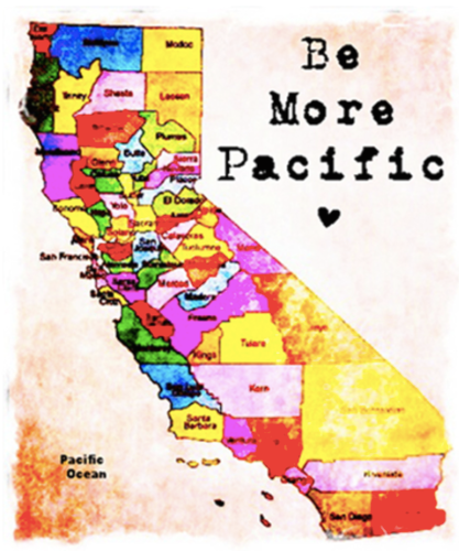 Be More Pacific Los Olivos Greeting Card