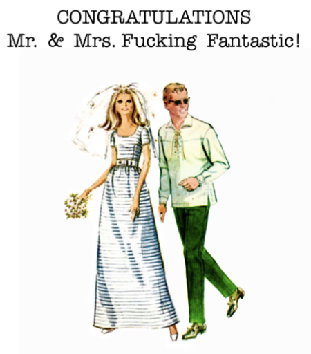 Mr. & Mrs. Fantastic Greeting Card
