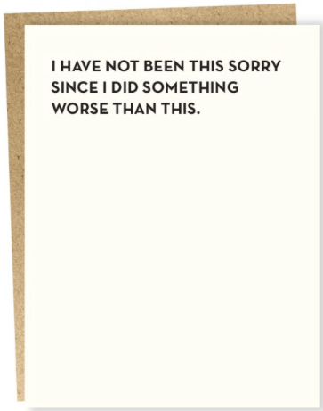 Sorry Greeting Card