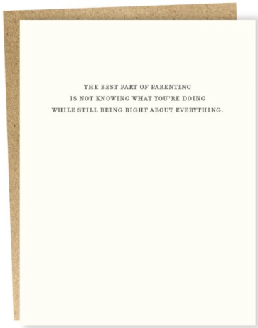 Parenting Greeting Card