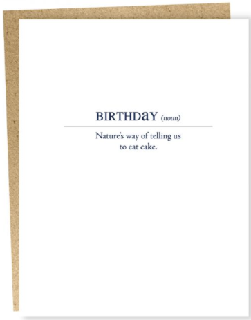 Birthday Definition Greeting Card