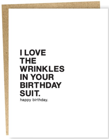 Birthday Suit Greeting Card