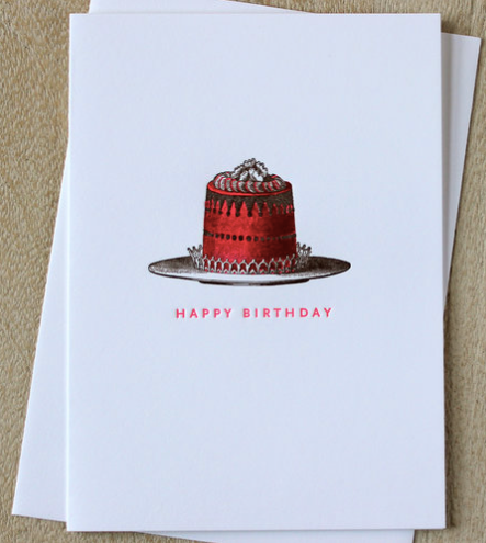Pink Birthday Cake Greeting Card Honey Paper