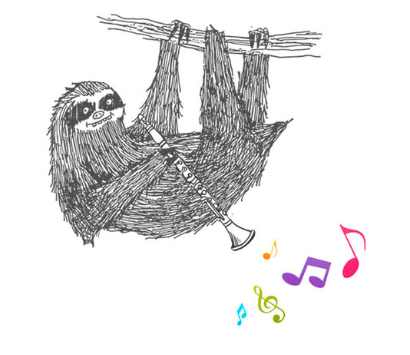 Twelfth Night Sloth Greeting Card