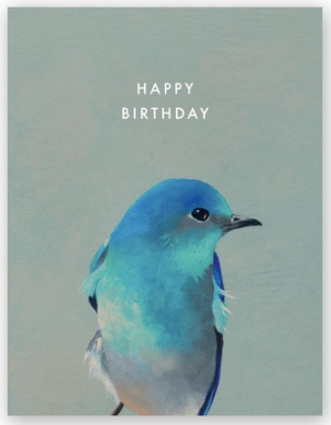 Bluebird Birthday Greeting Card