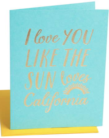 California Sun Greeting Card