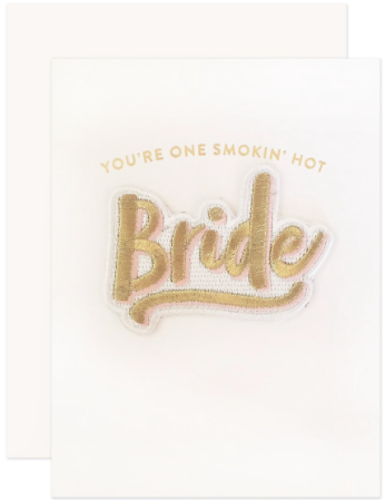 Bride Patch Greeting Card