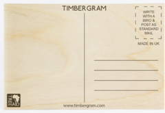 Number One Wooden Postcard