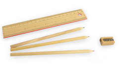 Red Slide Top Colored Pencil Set
