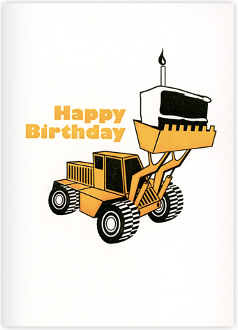 Cake Digger Greeting Card