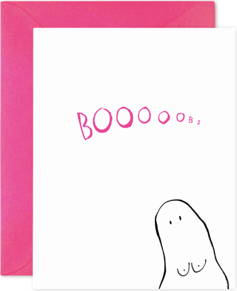 Boooobs Greeting Card
