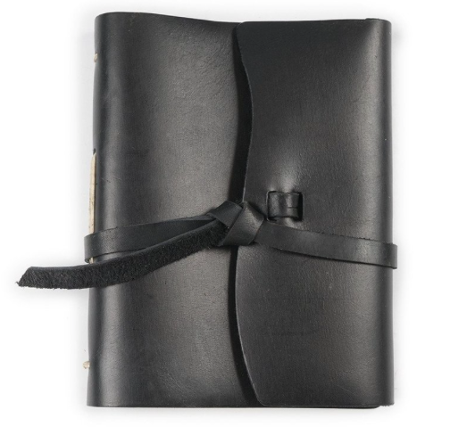 Leather Journal with Wrap Closure