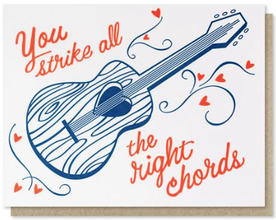 Right Chords Greeting Card