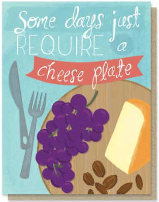 Cheese Plate Greeting Card