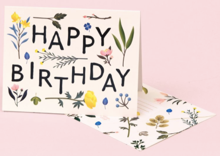 Plant Variety Birthday Greeting Card