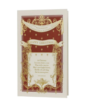 English Lit Christmas Greeting Card