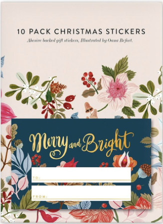 Foil Merry & Bright Stickers