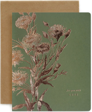 Botanical For You With Love Greeting Card