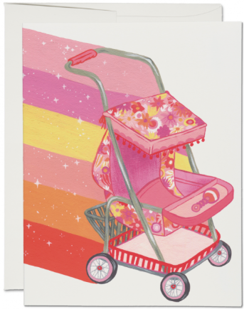 Magical Stroller Greeting Card - NOW 40% OFF
