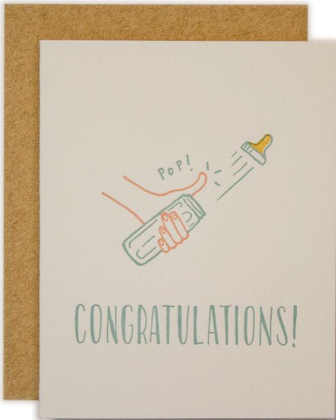Congratulations Bottle Pop! Greeting Card