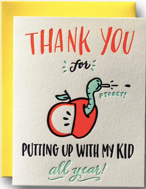 Thanks for Putting Up With My Kids Greeting Card