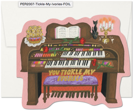 Tickle My Ivories Greeting Card