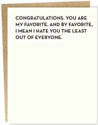 Favorite Greeting Card