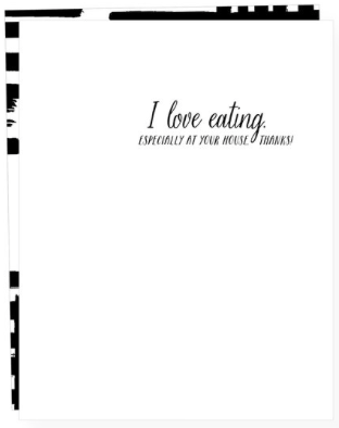 Eating at Your House Greeting Card