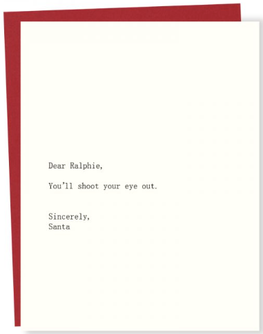 Ralph/Santa Greeting Card