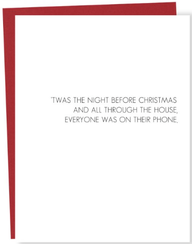 Holiday Phone Greeting Card