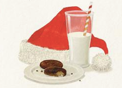 Santa's Snack Greeting Card