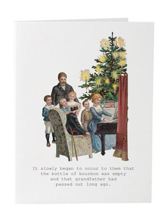 Grandfather Sleeping Holiday Greeting Card