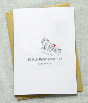 All's Well That Ends Well Fox Greeting Card