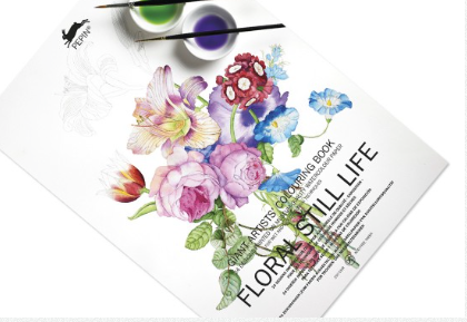 Giant Artist's Coloring Book - Floral Still Life