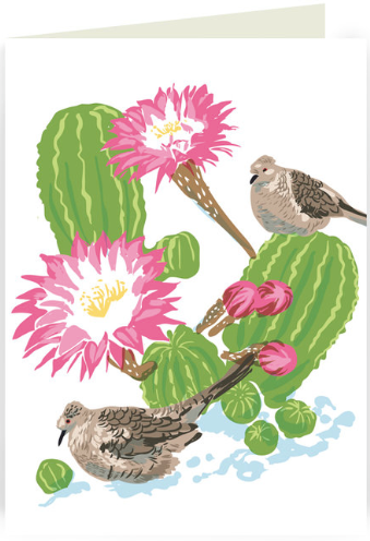 Inca Dove & Cactus Greeting Card