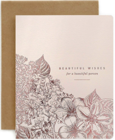 Beautiful Wishes Greeting Card