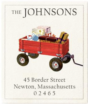 Custom Address Stickers - Red Wagon