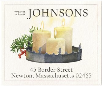 Custom Address Stickers - Candle Light