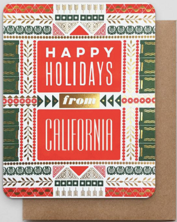 California Happy Holidays Greeting Card