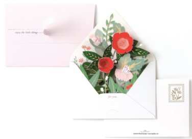 Floral Envelope Greeting Card