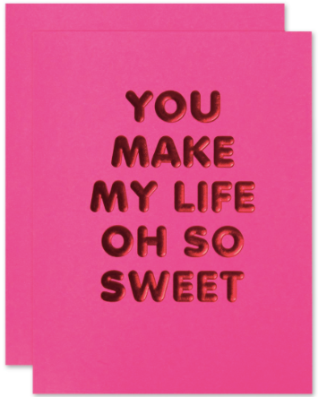 Life So Sweet Greeting Card