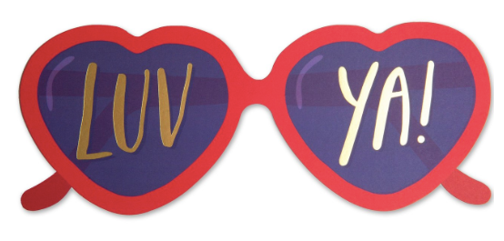 Heart Glasses Greeting Card