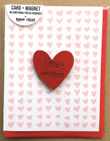 Love Wins Magnet Greeting Card