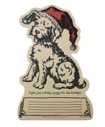 Puppy Token Greeting Card