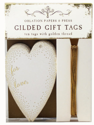 Gilded Heart Gift Tags