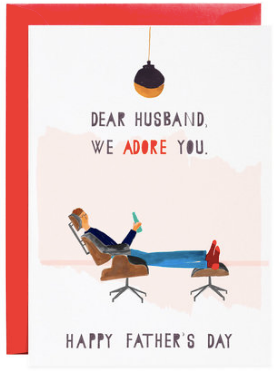 The Father's Day Chair Greeting Card